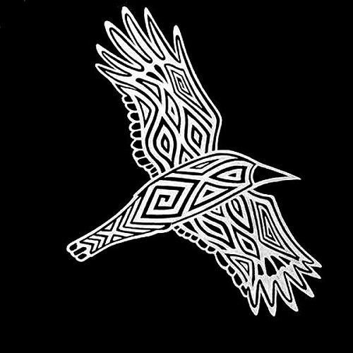 Scott Towney's representation of Waagan, the Crow, or Canopus, for the Wiradjuri Astronomy Project. © Scott Towney 2017.