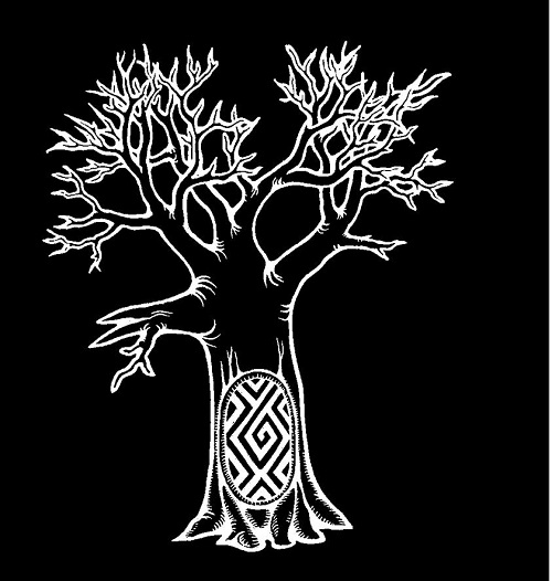 Wiradjuri artist Scott Towney's representation of Yarran-Do, the Yarran Tree, or the Southern Cross, for the Wiradjuri Astronomy Project. © Scott Towney 2017.